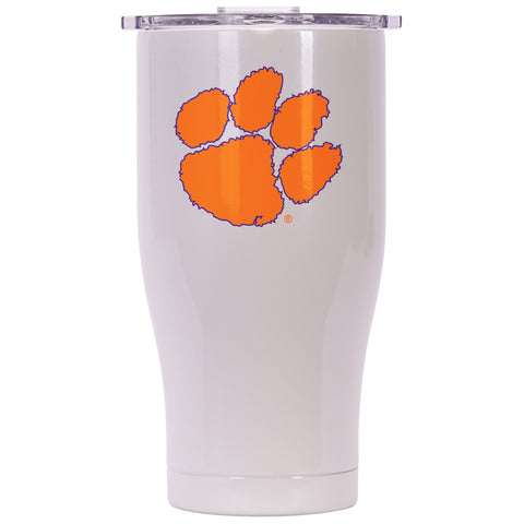Clemson 27oz Chaser Pearl/Clear