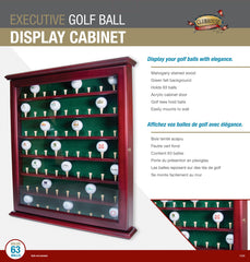 63 Ball Cabinet W/ Glass Door & Latch