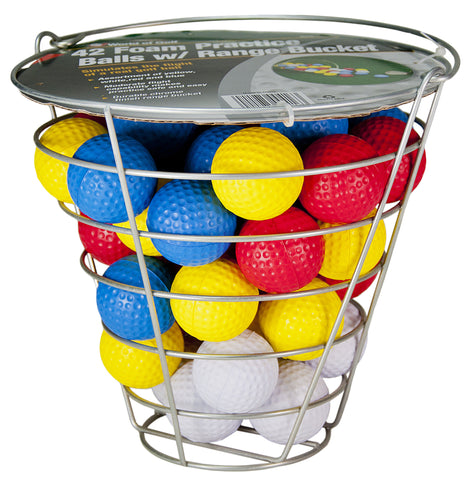 42pc Foam Balls in Range Bucket