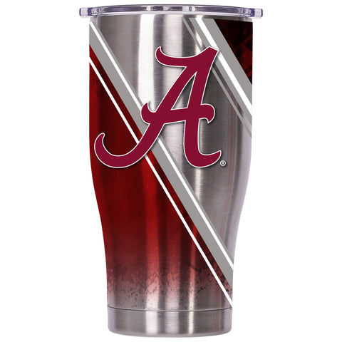 Alabama Double Stripe Wrap 27oz Chaser