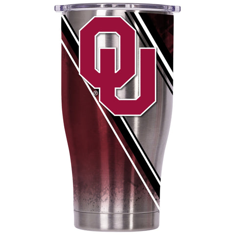 Oklahoma Double Stripe Wrap 27oz Chaser