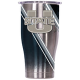 Utah State Double Stripe Wrap 27oz Chaser