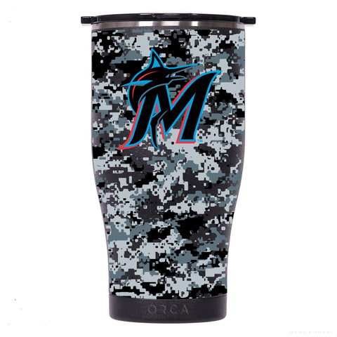 Miami Marlins Digital Camo Chaser 27oz Black/Black