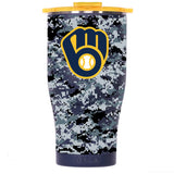Milwaukee Brewers Digital Camo Chaser 27oz Navy/Gold