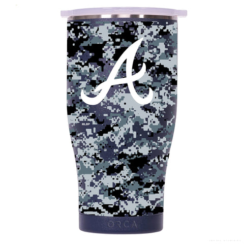 Atlanta Braves Digital Camo Chaser 27oz Navy/White