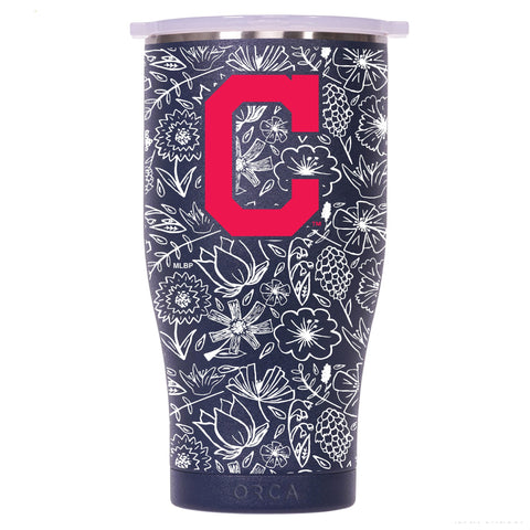 Cleveland Indians Floral Sketch Chaser 27oz Navy/Red