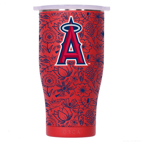 Los Angeles Angels Floral Sketch Chaser 27oz Red/White