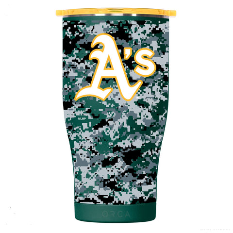 Oakland Athletics Digital Camo Chaser 27oz Dark Green/Yellow