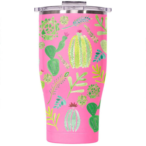 Desert Cactus 27oz Chaser Pink/Clear