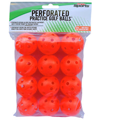 Orange Perforated Practice Balls