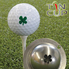 "Tin Cup Ball Marker ™    ""Luck of the Irish"""