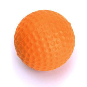 Orange Solid Practice Balls
