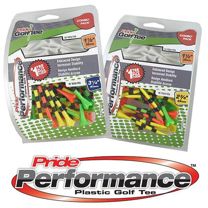 Pride Golf Tee® Pride Performance™ Combo Packs - Includes 2 Tee Sizes!