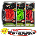Pride Performance™ Matte Finish Plastic Tees - 30ct Packs
