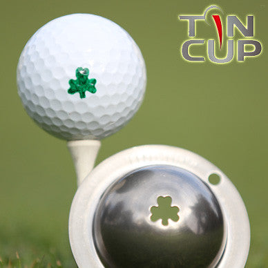 "Tin Cup Ball Marker ™    ""Shamrock"""