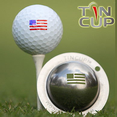 "Tin Cup Ball Marker ™    ""Stars & Stripes"""