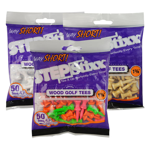 "1 3/8"" Way SHORT STEPStixx™ Golf Tees"