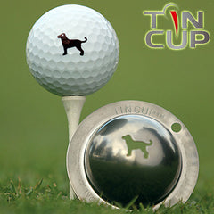 "Tin Cup Ball Marker ™    ""Dulin the Dog"""