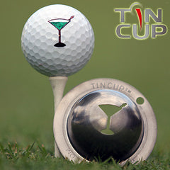 "Tin Cup Ball Marker ™    ""5 O'clock Somewhere"""