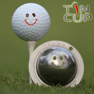 "Tin Cup Ball Marker ™    ""Groovy"""