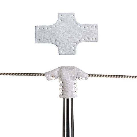 Leather protection for stanchion pole
