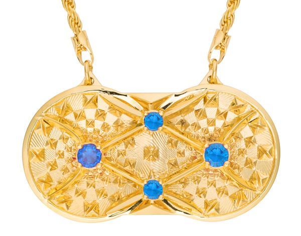 Holographic Projector Necklace - 18k Solid Gold - Pyradyne