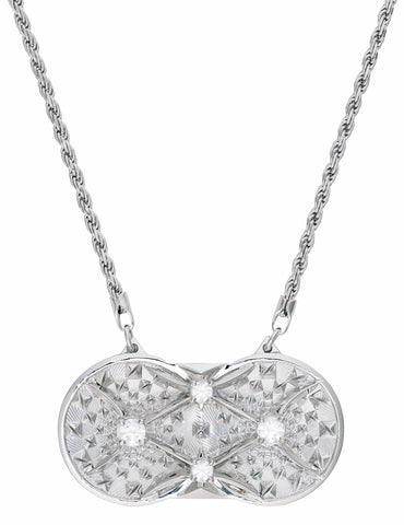 Holographic Projector Necklace - Solid Platinum