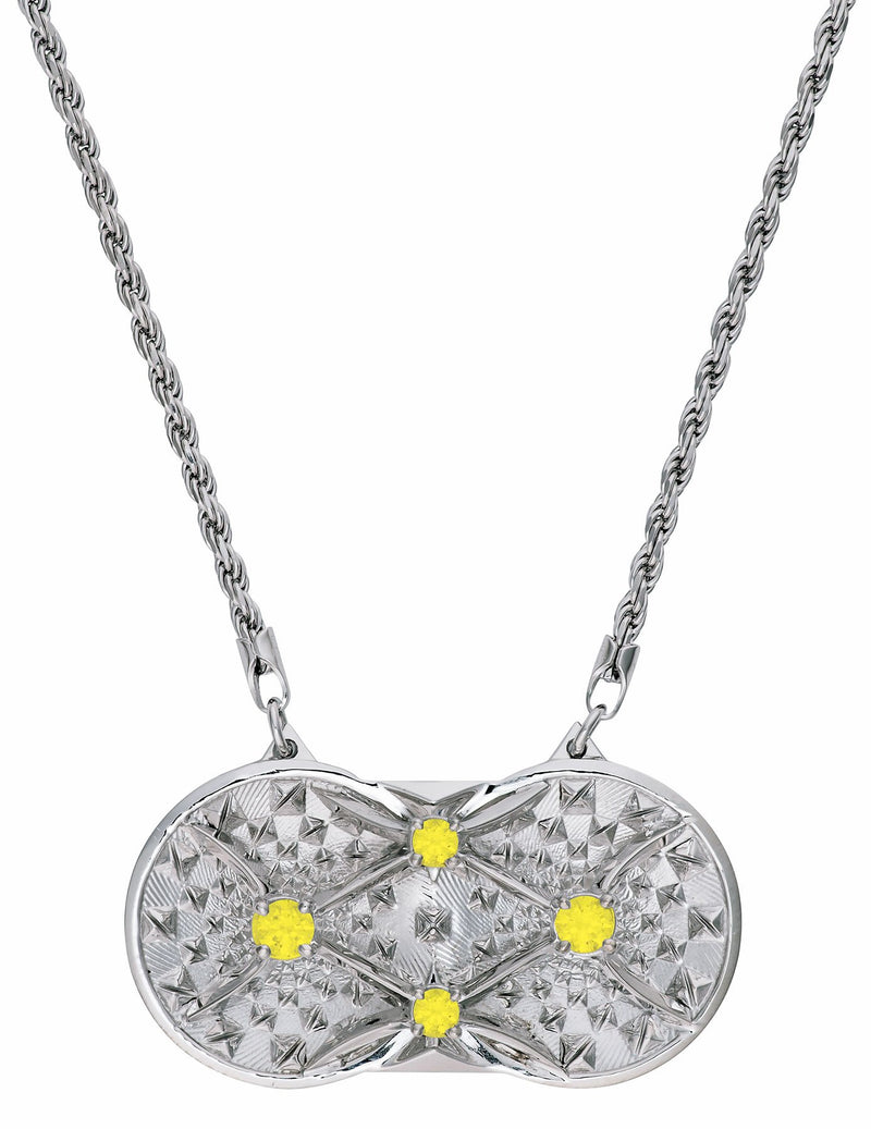 Holographic Projector Necklace - Solid Platinum - Pyradyne