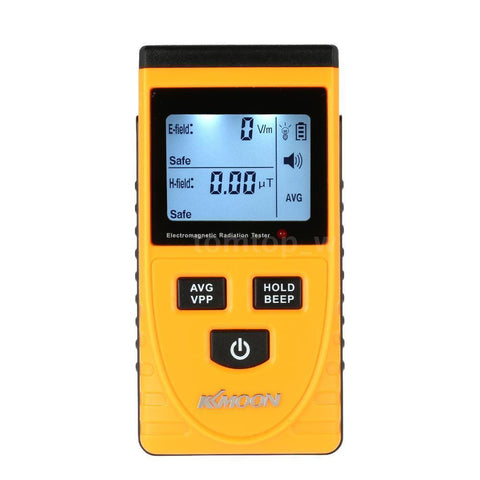 Digital LCD Electromagnetic Radiation Detector