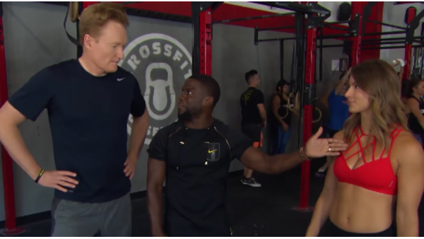 Conan Tries CrossFit with Kevin Hart