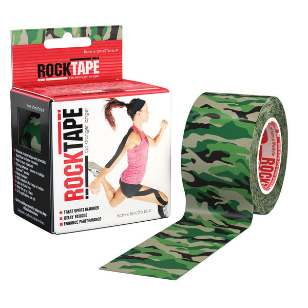 RockTape Green Camouflage Kinesiology Tape