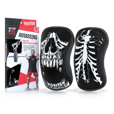 RockTape Assassins Knee Sleeves Skull