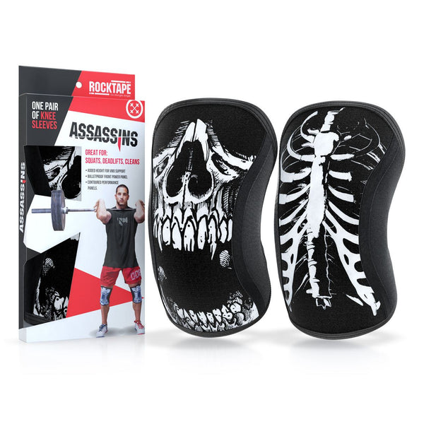RockTape Assassins Knee Sleeves Skull - 2