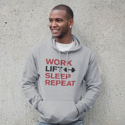 Work Lift Sleep Repeat Hooded Sweatshirt