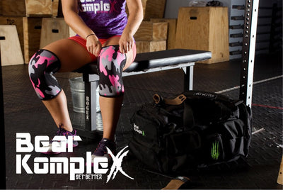 Bear KompleX Knee Sleeves Neon Pink Camo