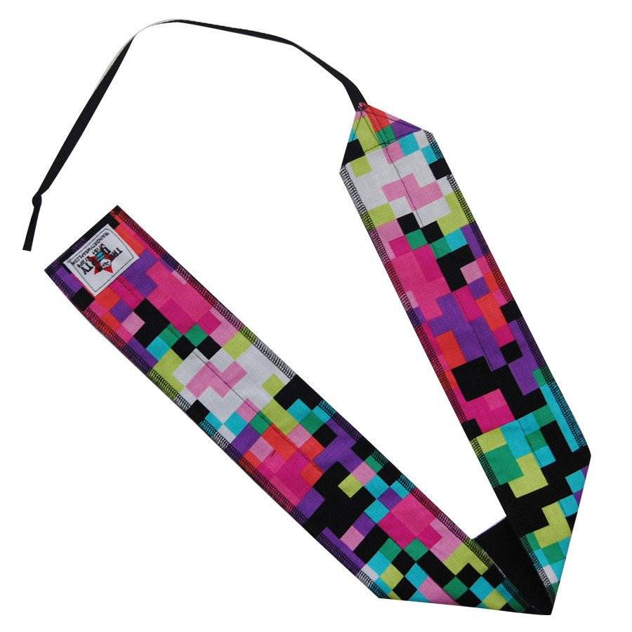 Train Dirty Pixels Wrist Wraps