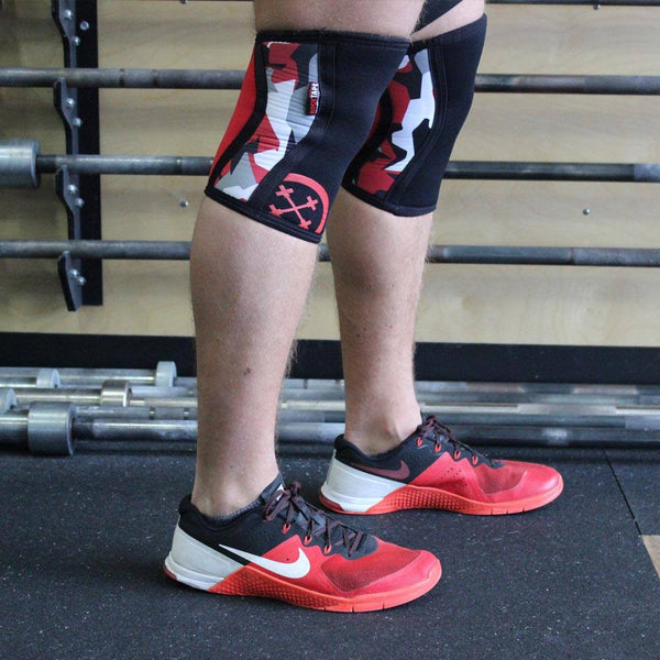 RockTape Assassins Knee Sleeves Red Camo - 1