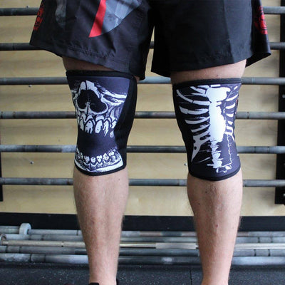 RockTape Assassin Knee Sleeves Skulls Front