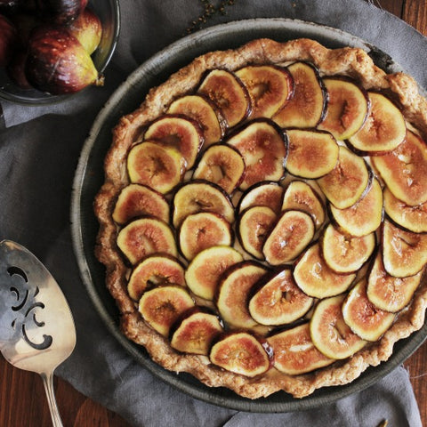Fig + Elderberry Pie