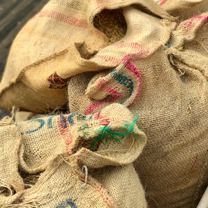 Walter Penna whole bean coffee burlap sacks