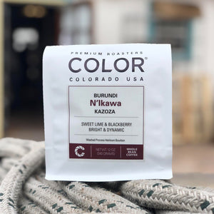 Color Coffee Burundi N'Ikawa Kazoza coffee bag