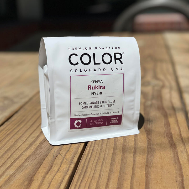 Color Coffee Kenya Rukira coffee bag