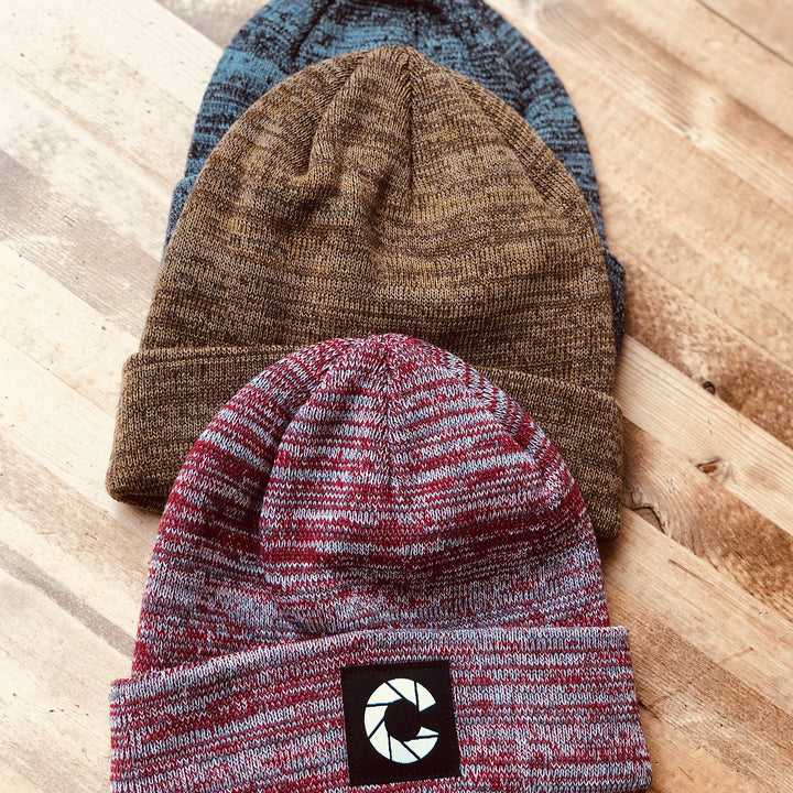 Color knit beanie