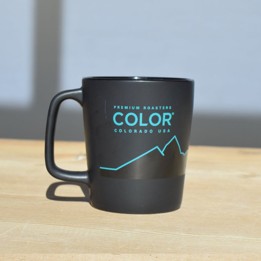 Color coffee mountain line coffee mug