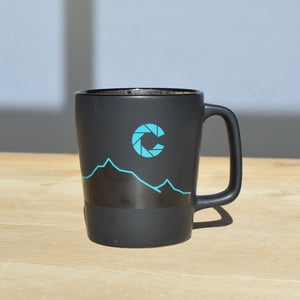 color coffee mountain line coffee mug front