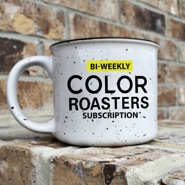 Color Coffee Roasters White Ceramic Camp Mug