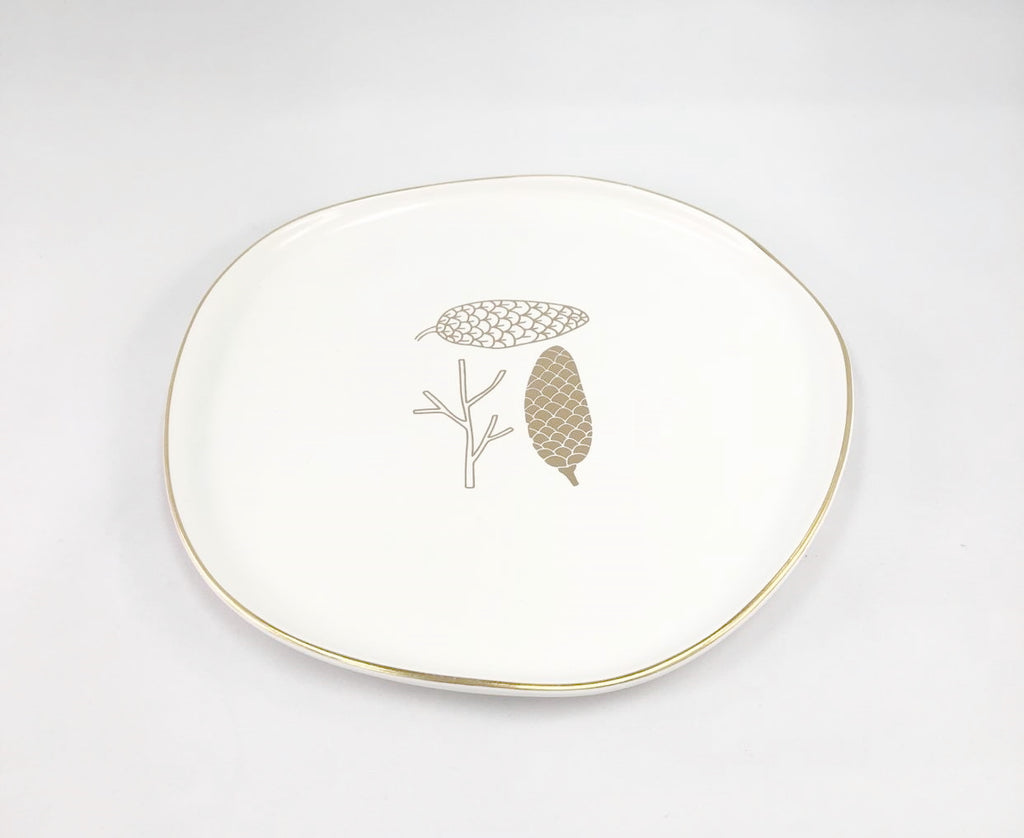 Gold Pine Cone Plate
