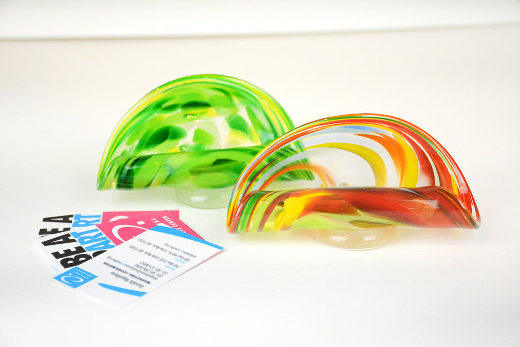 Glass Business Card Holders by James Hayes