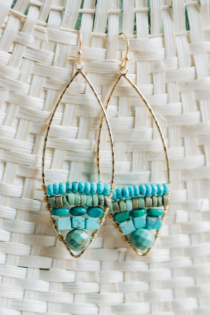 Lagos Multi-Stone Earrings by Kelmari