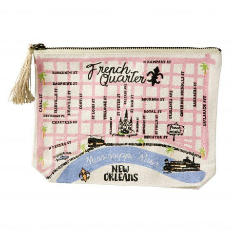 French Quarter Map Pouch